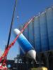 Plaatsing silo's