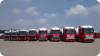 van l.n.r.: Volvo FH, MAN TGX, Daf XF en Mercedes Actros